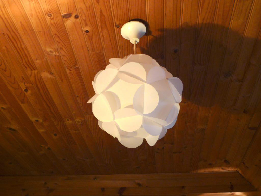 un luminaire fait maison