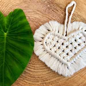 Coeur en macramé ORNATA