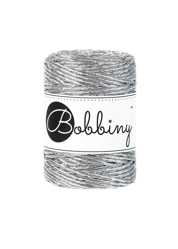 corde métallisée argentée pour macramé