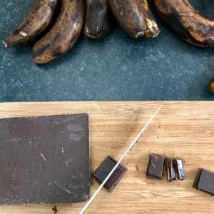 cookies a la banane et au chocolat