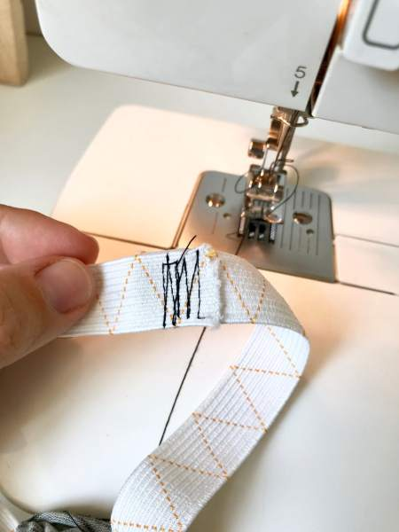 couture sur elastique