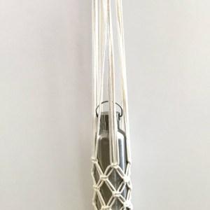 Porte gourde en macramé fabrication artisanale