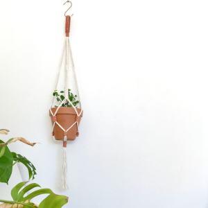 grande suspension pour plante en macramé Denticulata La Tortue Fait Maison