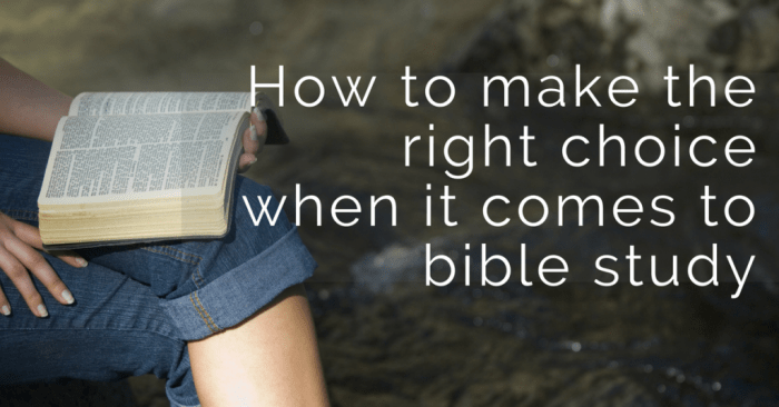 Bible reading and bible study are very important for daily quiet time with God. But how do you know what you should read or study?