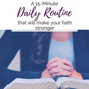 This simple trick is the best way to start your quiet time routine every day so you can grow your faith through prayer and Bible study.