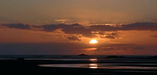 coucher de soleil en baie de Guisény
