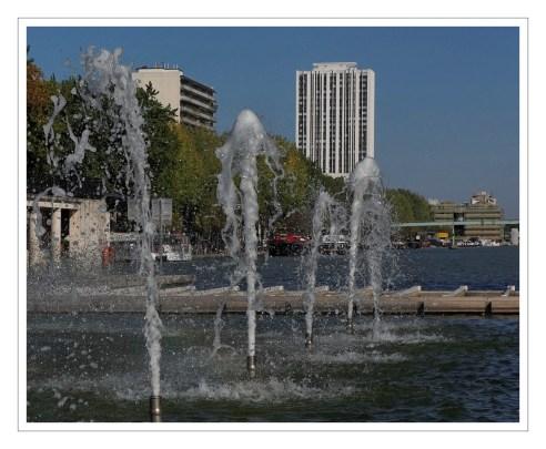 fontaine bassin de la Vilette