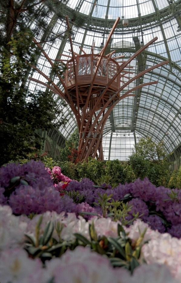Cabane perchée Pommery, expo l'Art du Jardin, Grand Palais, Paris