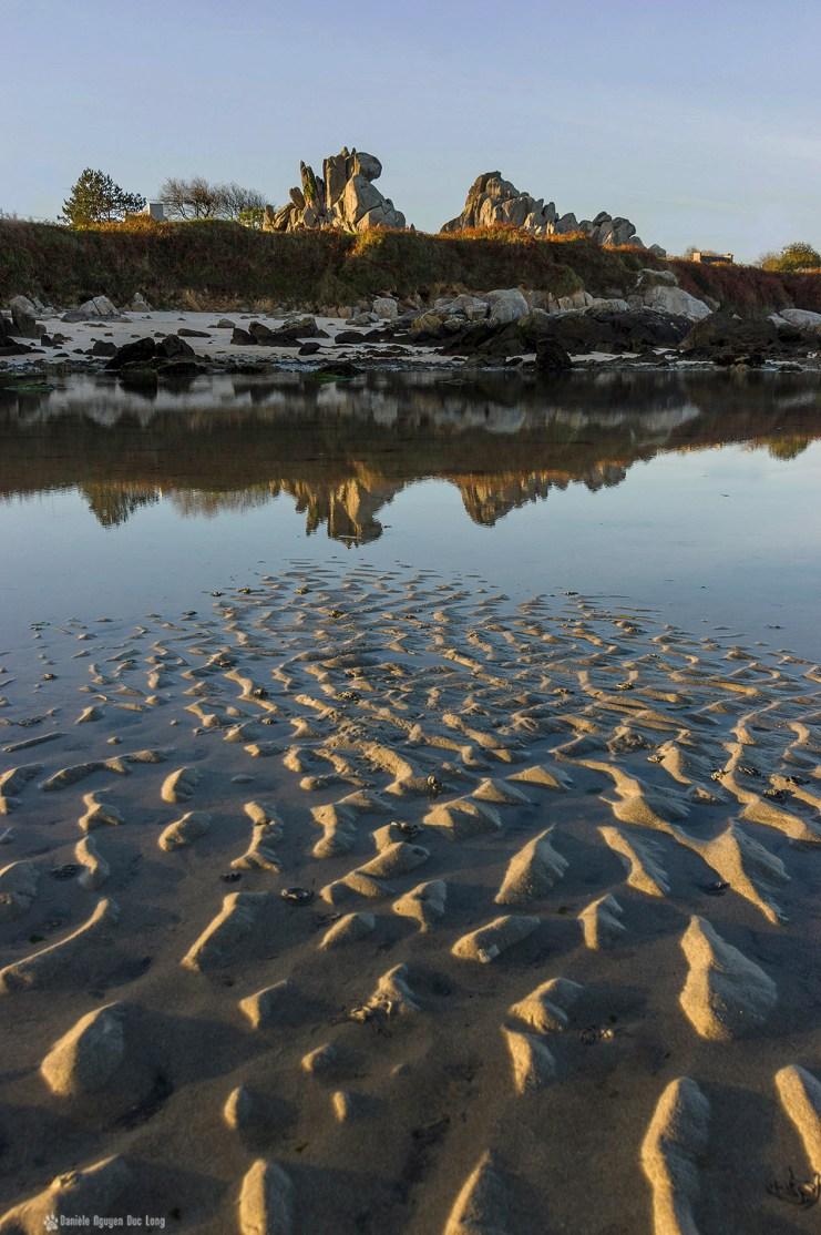 lever soleil et reflets barrachou et sillons sable