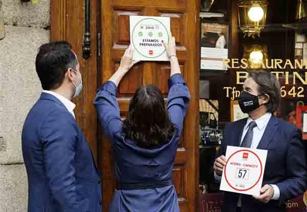 sello de garantía de la Comunidad de Madrid anti Covid para los hosteleros que cumplan con las medidas