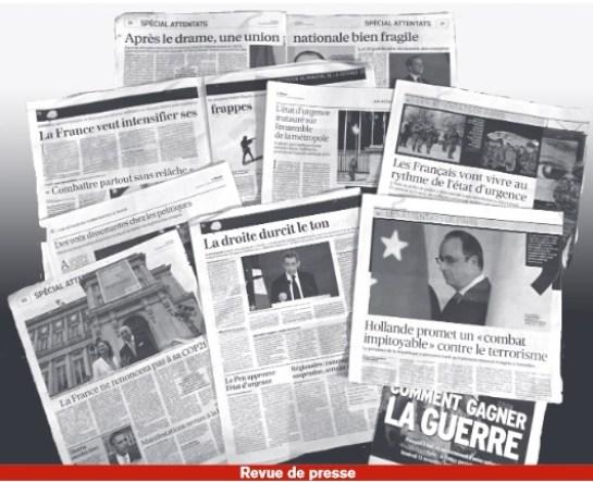 revue presse attentats