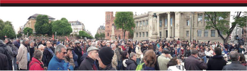 """Le rassemblement internationaliste de Strasbourg 11 mai 2019 """"Cette Europe n'est pas la nôtre"""""""