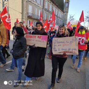 Dans la manifestation d'Agen