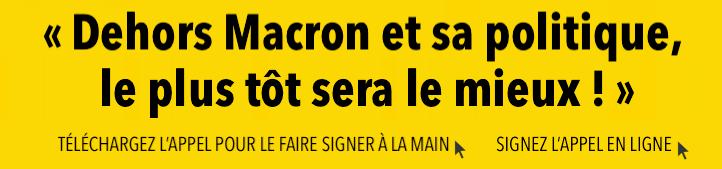 Appel Dehors Macron