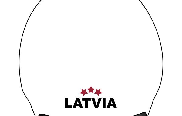 Latvia peldcepure 3D balta