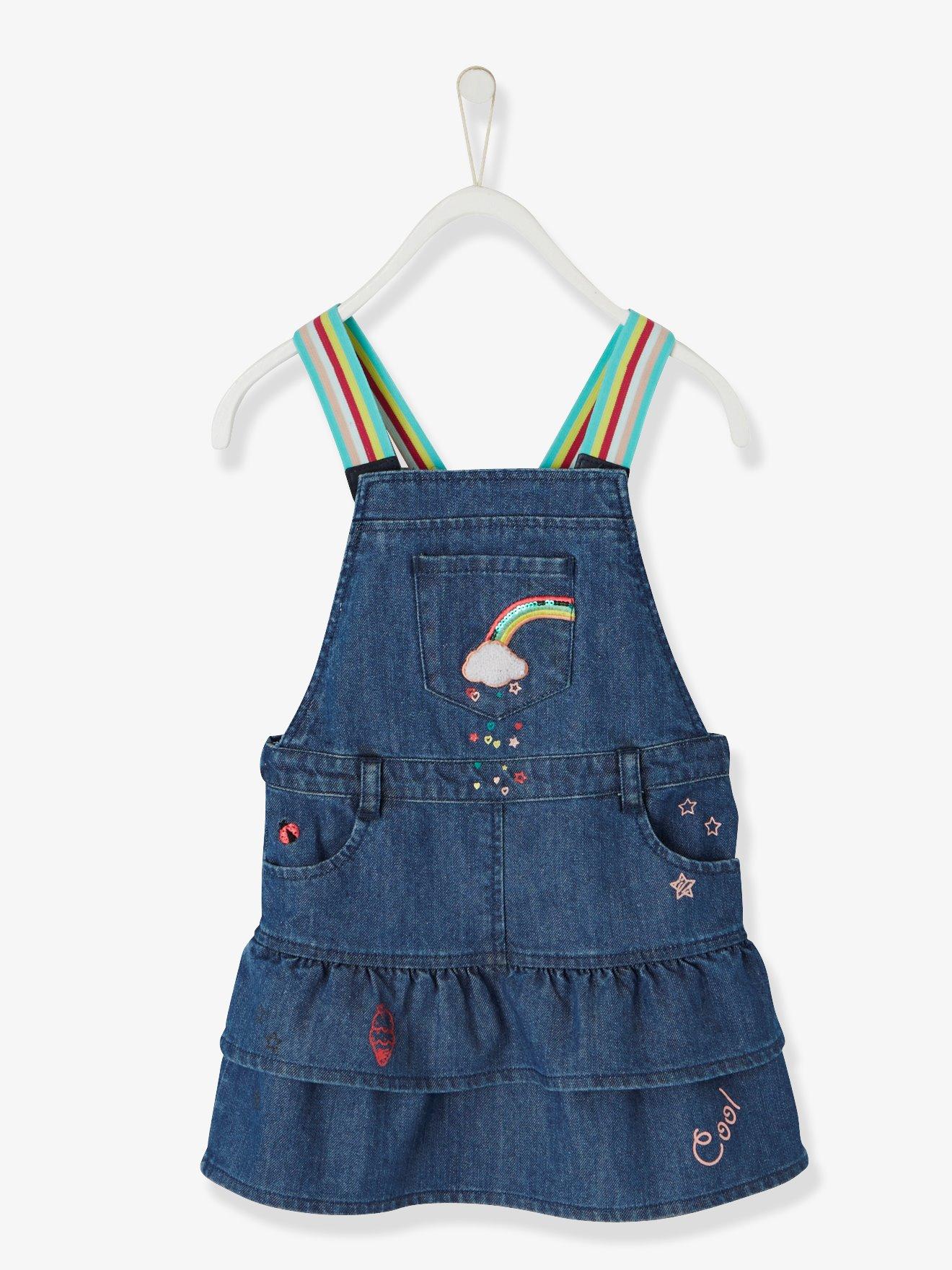denim-dungaree-dress-with-iridescent-graffiti-for-girls