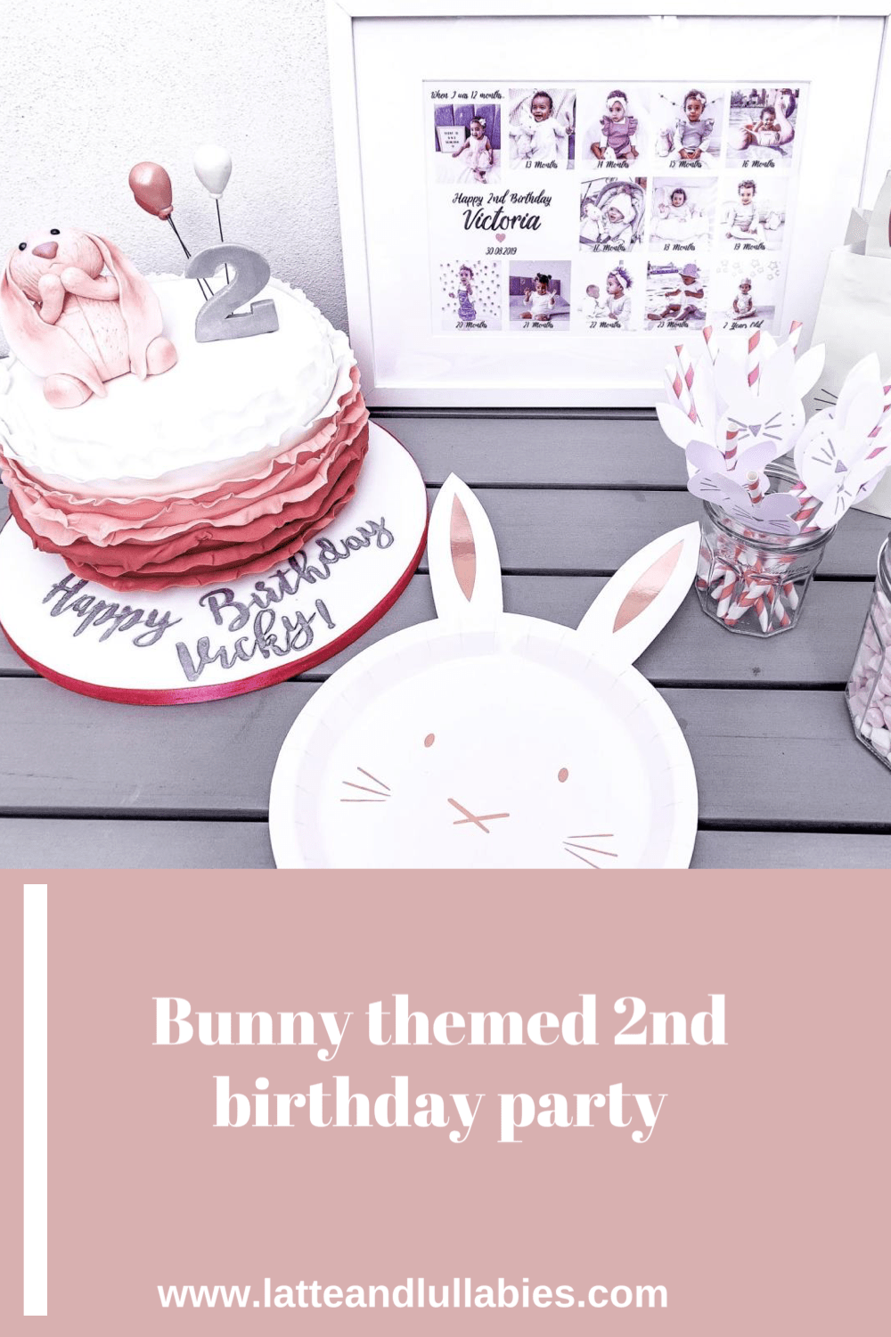 Bunny themed 2nd birthday party