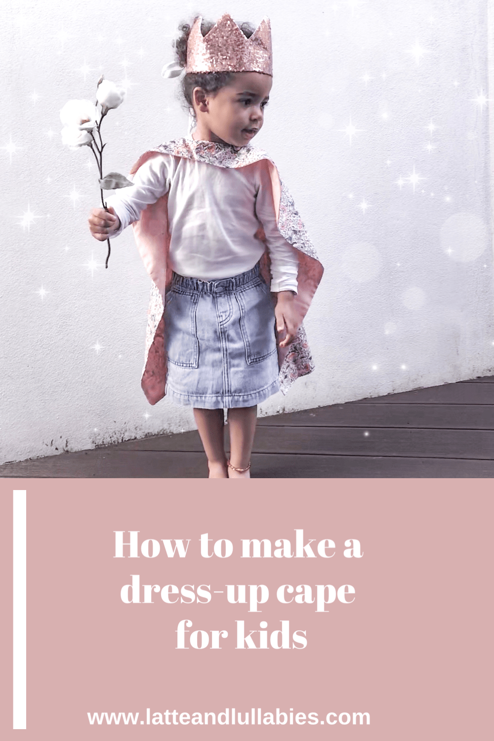 Sharing another simple DIY to keep yourself and your little ones entertained during these crazy lockdown times: how to make a dress-up cape for kids – because, which kid doesn't like dressing up, right? This cape is super simple to make and you should be easily able to make this even if you are a not an experienced sewing machine user.