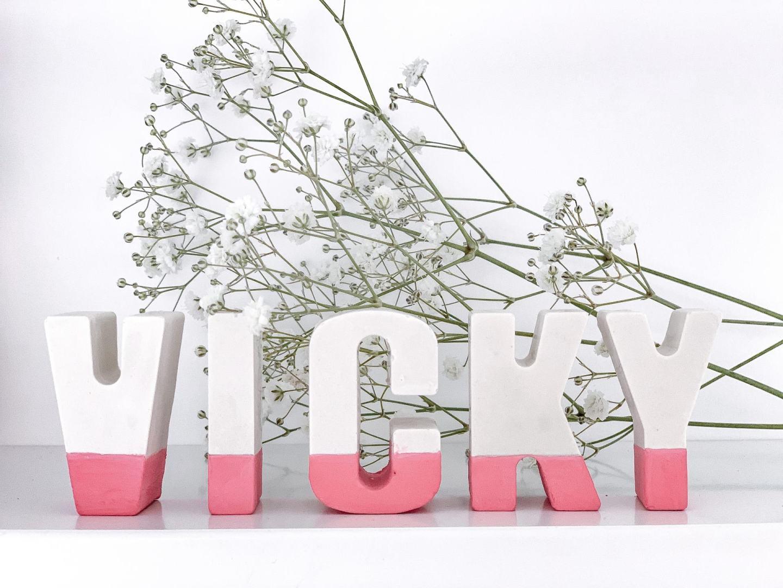 Plaster of paris letters