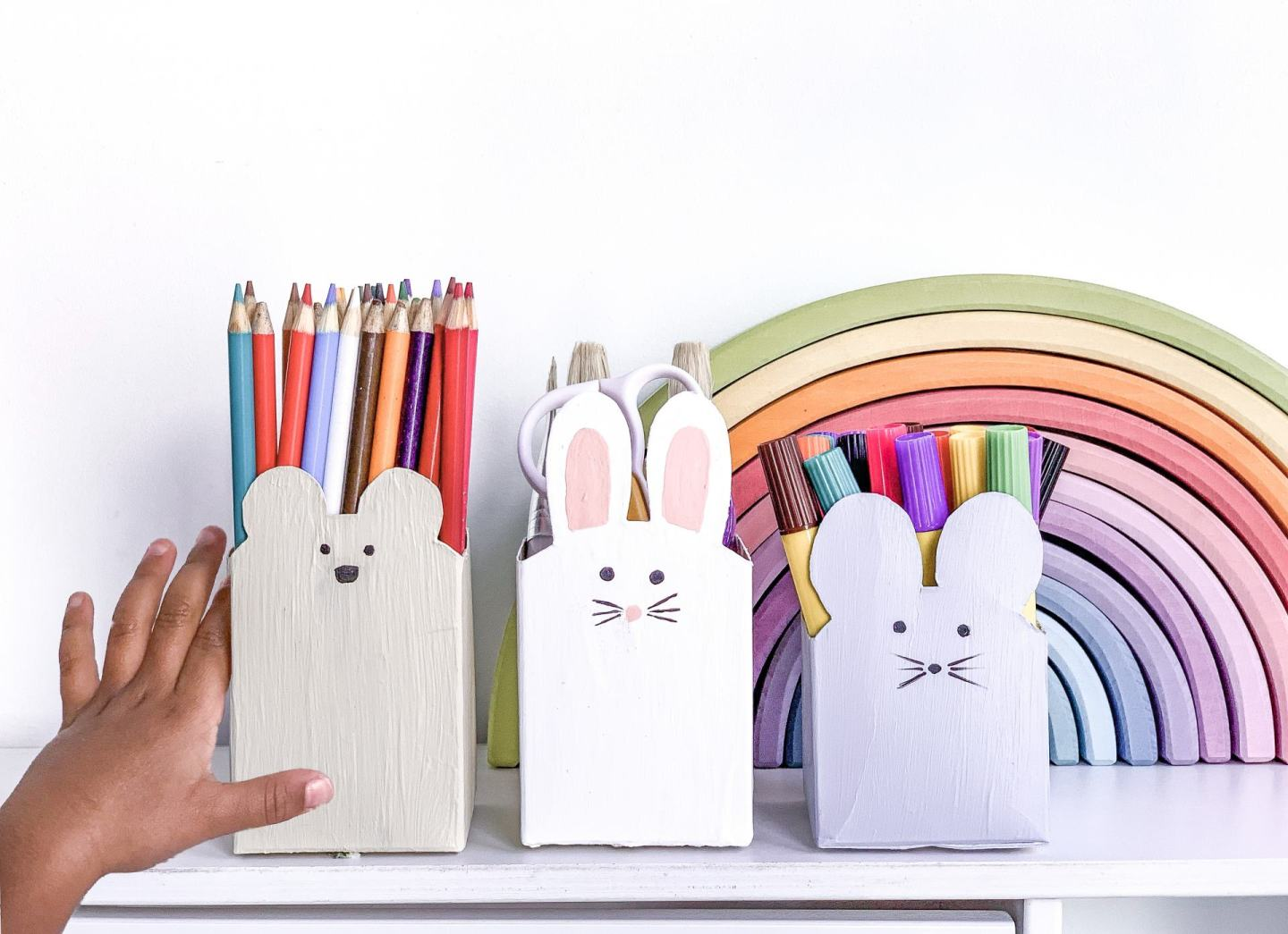 DIY Animal storage boxes from milk cartons