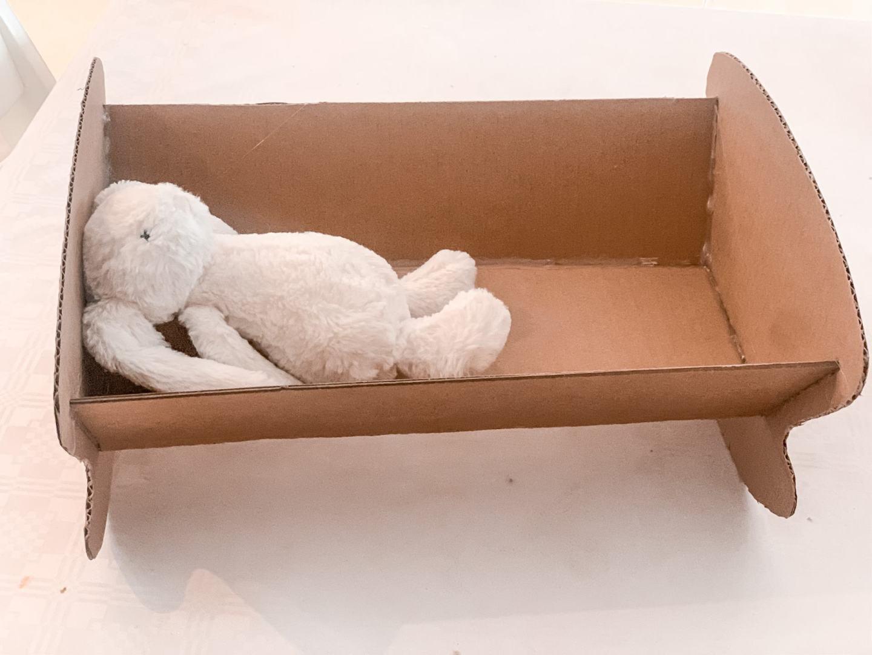 cardboard doll bed tutorial