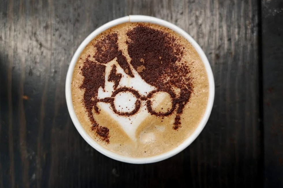Image result for harry potter latte art""