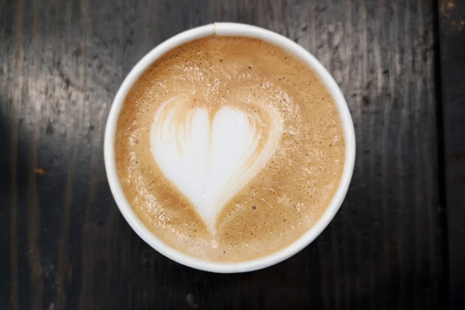 Latte Art Love - Heart