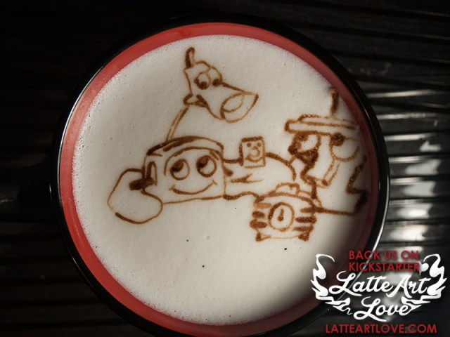 Latte Art - The Brave Little Toaster & Friends