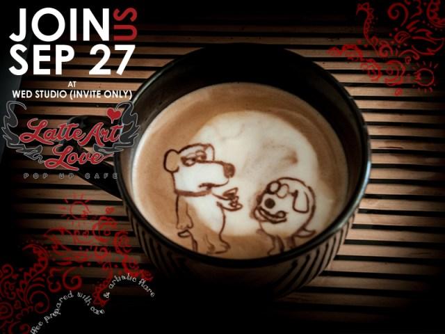 Latte Art - Brian & Dogbert
