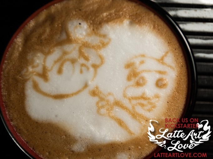 Latte Art - Doctor Who & Mario Mashup