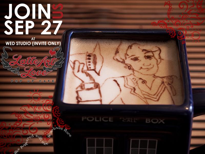 Latte Art Love - Fifth Doctor