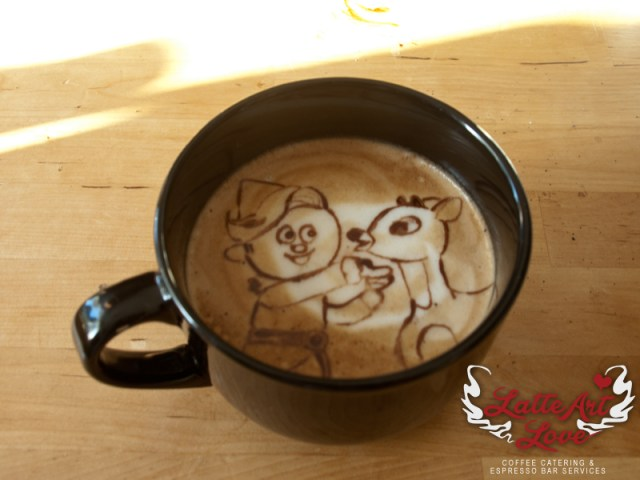 Latte Art Love - The Misfits - Rudolph the Red Nosed Reindeer