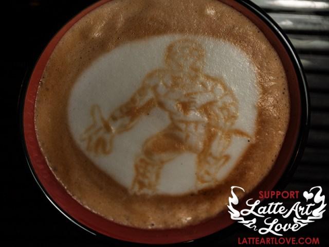 Latte Art - Spider-Man