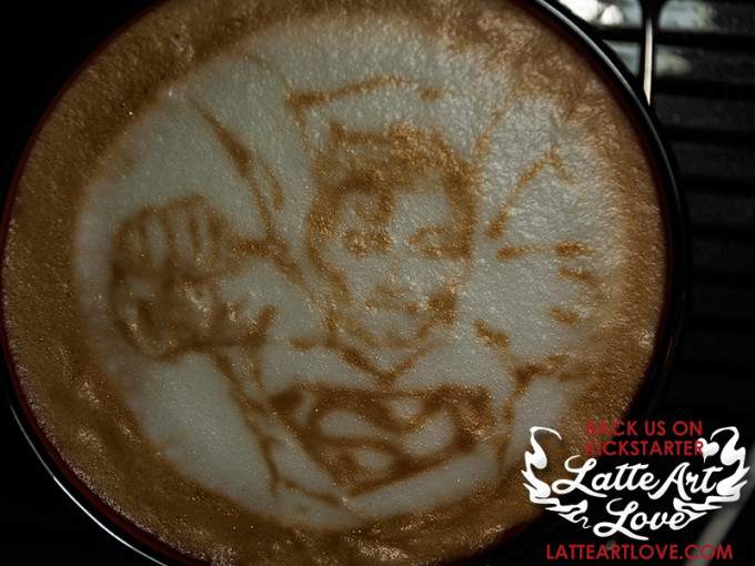 Latte Art - Superman