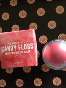 Glossy Box UK Sport FX lip balm candy floss