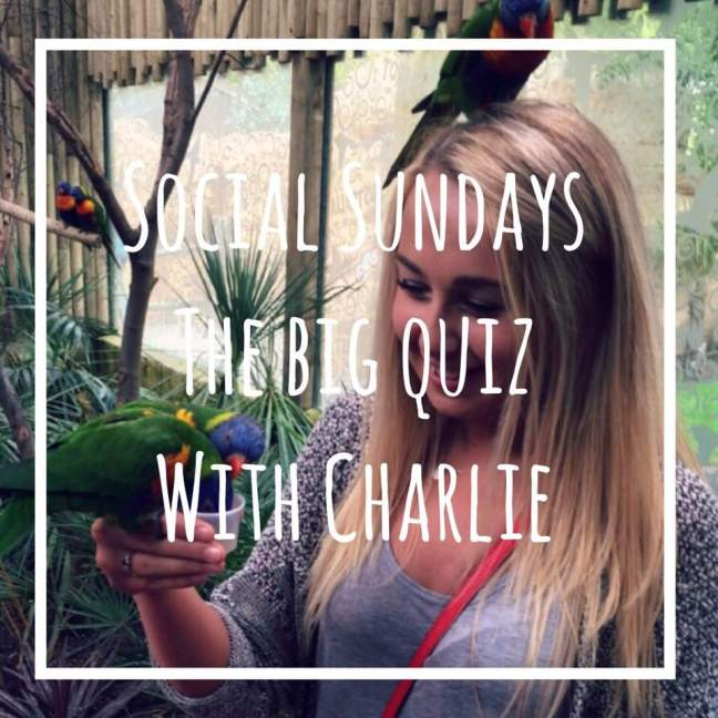 The big quiz with Charlie Social Sundays