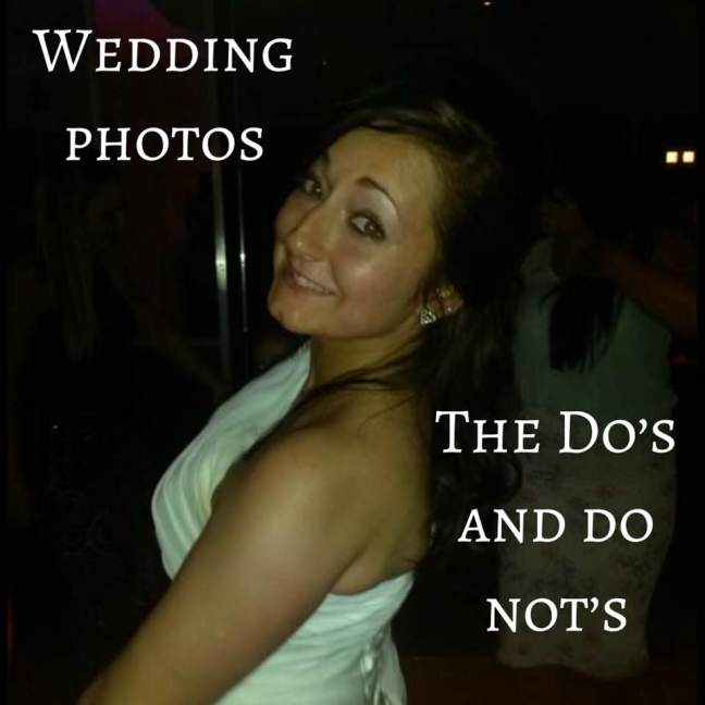 Wedding photos || The do's and do not's