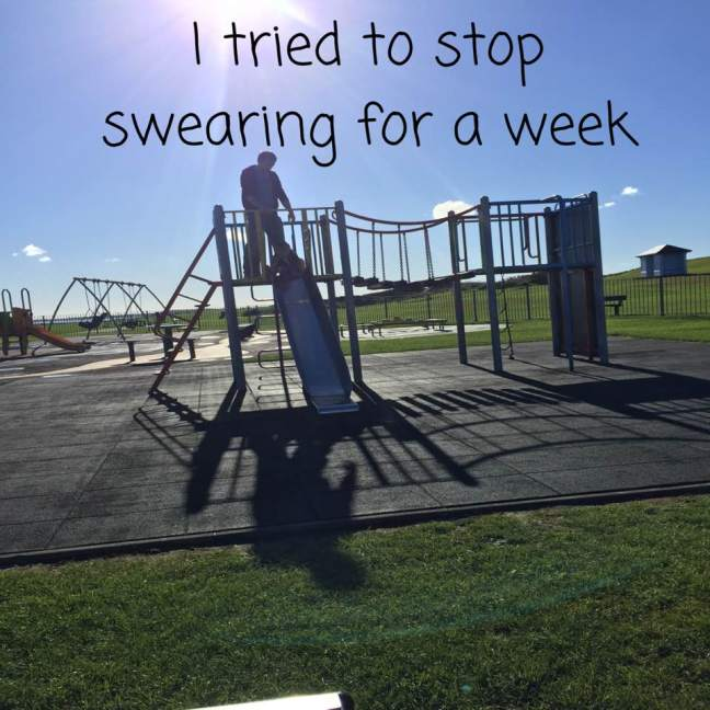 I tried to stop swearing for a week