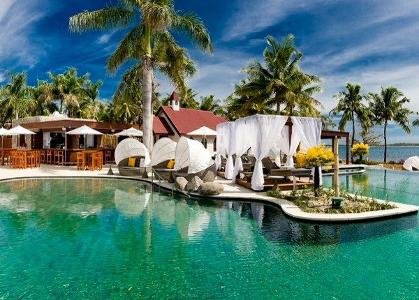 The new adults-only beach club at Sofitel Fiji Resort and Spa