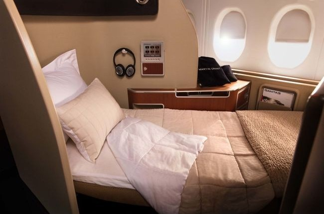 Qantas first class snuggles up with Sheridan