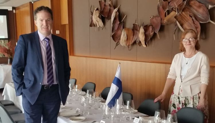 The growth of Finnair and Finland's centenary are on the menu at Aria