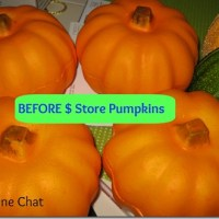 Before & After Dollar Store Pumpkins + Kitchen Table Gone Fall