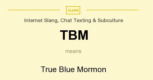 TBM meaning - what does TBM stand for?