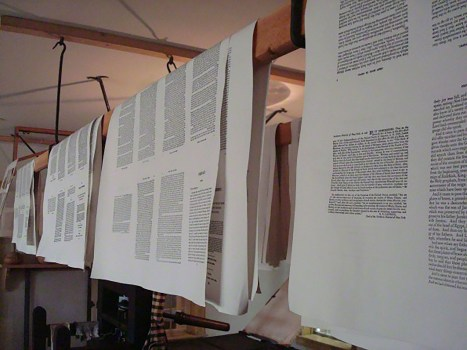 pages on a printing press