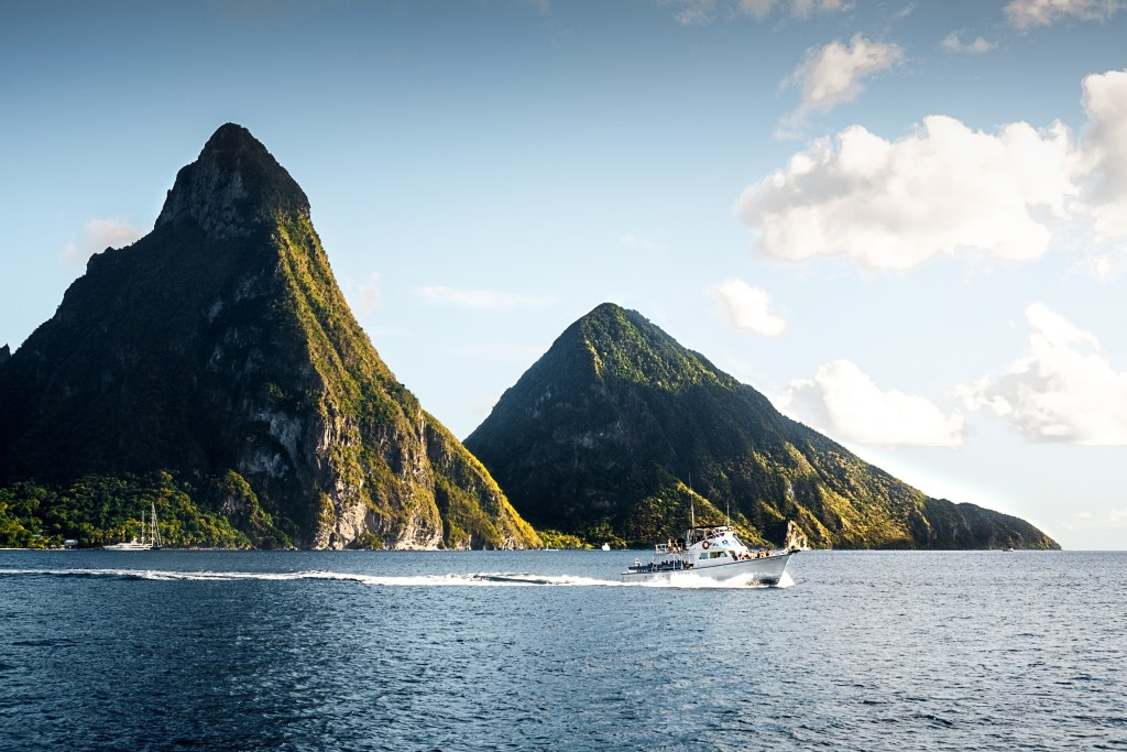 Water, Mountains, and Boats