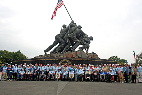 honor flight WWII Vets