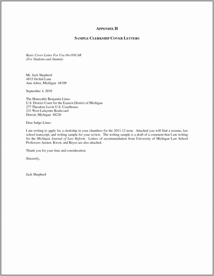 Cover Letter Examples Sample Of Cover Letter For Job Application Doc