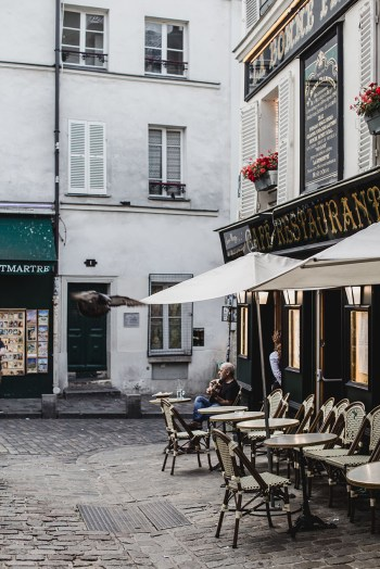 Cafe across from Le Consulat