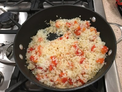 "vegetables mixed with cauliflower ""rice"""