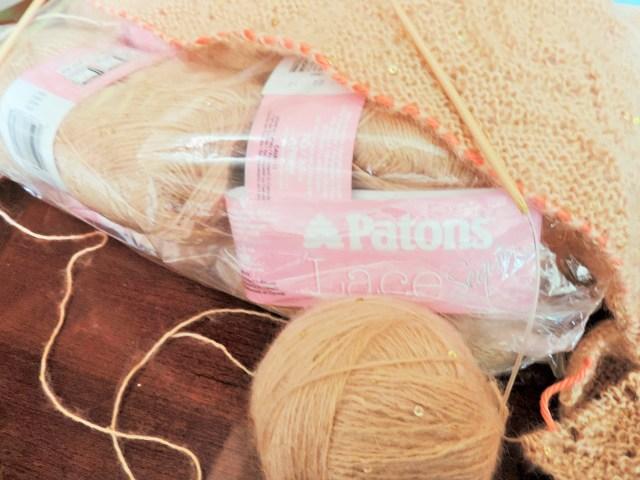 wip lace shawl